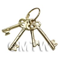 Dolls House Miniature 1:12th Scale Bunch Of Loose Brass Keys