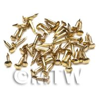 Pack of 50 Dolls House Miniature 1:12th Scale Brass Nails