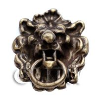 Dolls House Miniature Antique Brass Lions Head Door knocker