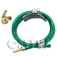 Dolls House Miniature 1:12th Scale Garden Hose And Faucet