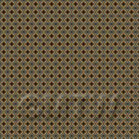 1:48th Dark Orange And Blue Aztec Style Tile Sheet With Brown Grout