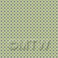 1:48th Yellow, Green And Grey Compass Star Design Tile Sheet