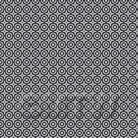 1:48th Black And White Floral Circle Design Tile Sheet With Grey Grout