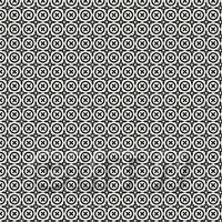 1:48th Black Bordered Floral Circle Design Tile Sheet With Black Grout
