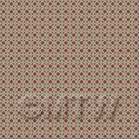 1:48th Dark Red, Black And Grey Ornate Tile Sheet With Yellow Grout