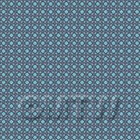 1:48th Navy, Pale And Sky Blue Ornate Tile Sheet With Blue Grout