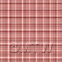 1:48th Red And White Triangular Pattern Tile Sheet With Grey Grout