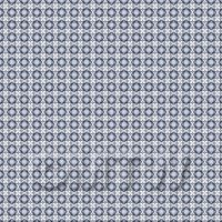 Dolls House Miniature - 1:48th Mixed Blue Ornate Pattern Tile Sheet With Light Grey Grout