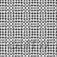 1:48th Black And Grey Ornate Pattern Tile Sheet With Light Grey Grout