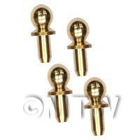 4 x 3.5mm Dolls House Miniature Brass Classic Door Knobs