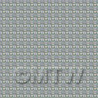 1:24th Green And Yellow Cross Design Tile Sheet With White Grout