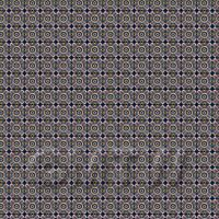 1:24th Mauve And Yellow Star Design Tile Sheet With Black Grout