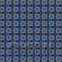 1:24th Blue And Black Flower Design Tile Sheet With Dark Grey Grout