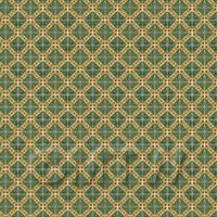 1/12th scale - 1:24th Green Star With Flower Border Tile Sheet With White Grout