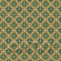 1:24th Large Green Star With Flower Border Tile Sheet With White Grout