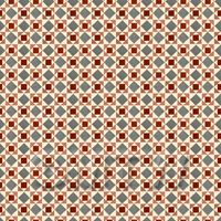 1:24th Red And Grey Geometric Design Tile Sheet With White Grout