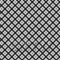 1:24th White Flower Design Tile Sheet With Black Grout