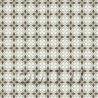 1:24th Brown And Sage Green Design Tile Sheet With Pale Grey Grout