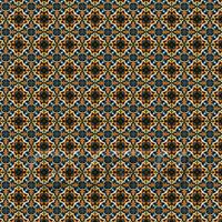 1:24th Dark Orange And Blue Aztec Style Tile Sheet With Brown Grout