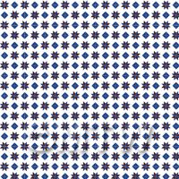 1:24th Dark Blue And Maroon Stars And Diamond Design Tile Sheet
