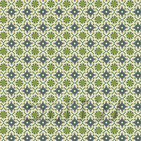 1:24th Yellow, Green And Grey Compass Star Design Tile Sheet