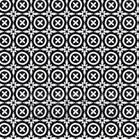 1:24th Black And White Floral Circle Design Tile Sheet With Grey Grout