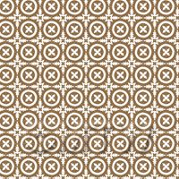 1:24th Pale Chestnut And White Floral Circle Design Tile Sheet