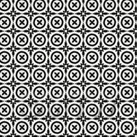 1:24th Black Bordered Floral Circle Design Tile Sheet With Black Grout