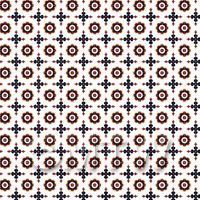 1:24th Dark Red and Navy Blue Target Design Tile Sheet With Grey Grout