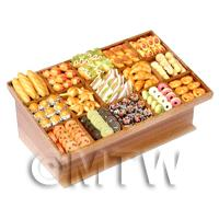 Dolls House Miniature Filled 15 Section Bakery Counter