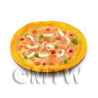 Dolls House Miniature Deep Pan Meat Lovers Pizza