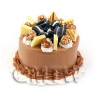 Dolls House Miniature  Rich Chocolate Cake