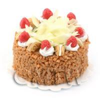 Dolls House Miniature Strawberry Vanilla Fudge Cake