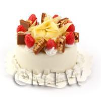 Dolls House Miniature Vanilla Sponge Cake