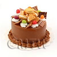 Dolls House Miniature Double Chocolate Cookie Cake