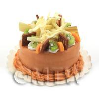 Dolls House Miniature Orange Fruit Cake