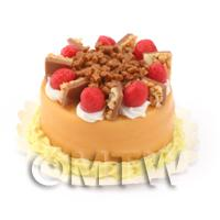 Dolls House Miniature Orange Strawberry Cake