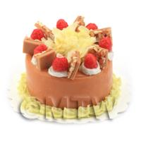 Dolls House Miniature Strawberry Toffee Cake