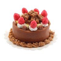 Dolls House Miniature Chocolate Strawberry Fudge Cake