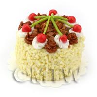 Dolls House Miniature Milk Chocolate Cherry Cake