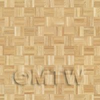 Dolls House Miniature Parquet Flooring Natural Oak Square Effect