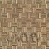 Dolls House Miniature Parquet Flooring Pale Cocoa Oak Square Effect