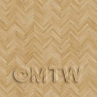 Dolls House Miniature Parquet Flooring Unfinished Thin Oak Strip Effect