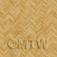 Dolls House Miniature Parquet Flooring Finished Light Oak Thin Strip Effect