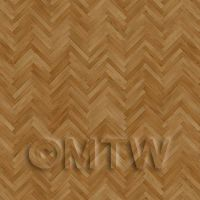 Dolls House Miniature Parquet Flooring Honey Thin Oak Strip Effect