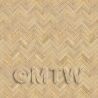 Dolls House Miniature Parquet Flooring 6 Inch Natural Oak Strip Effect