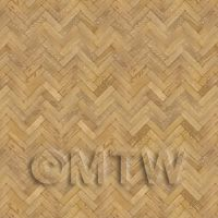 Dolls House Miniature Parquet Flooring 6 Inch Light Honey Oak Strip Effect