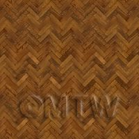Dolls House Miniature Parquet Flooring 6 Inch Pale Cocoa Colour Oak Strip Effect