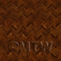 Dolls House Miniature Parquet Flooring 6 Inch Cocoa Colour Oak Strip Effect