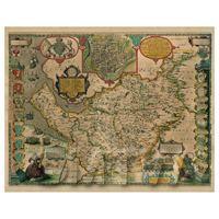 Dolls House Miniature John Speed Aged Cheshire Map